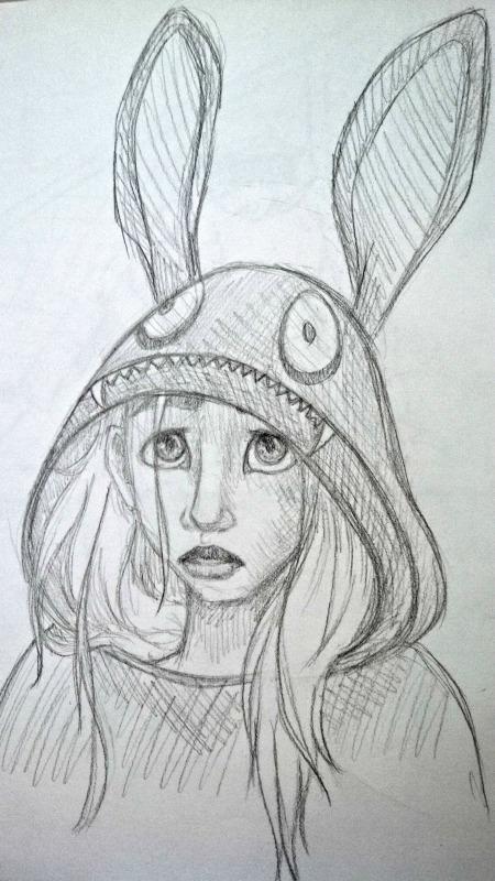 DreampunkGeek (Anna Van Skike) - Sweatshirt Girl Sketch
