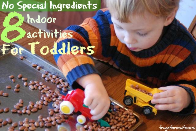 These indoor activities for toddlers are a great idea!