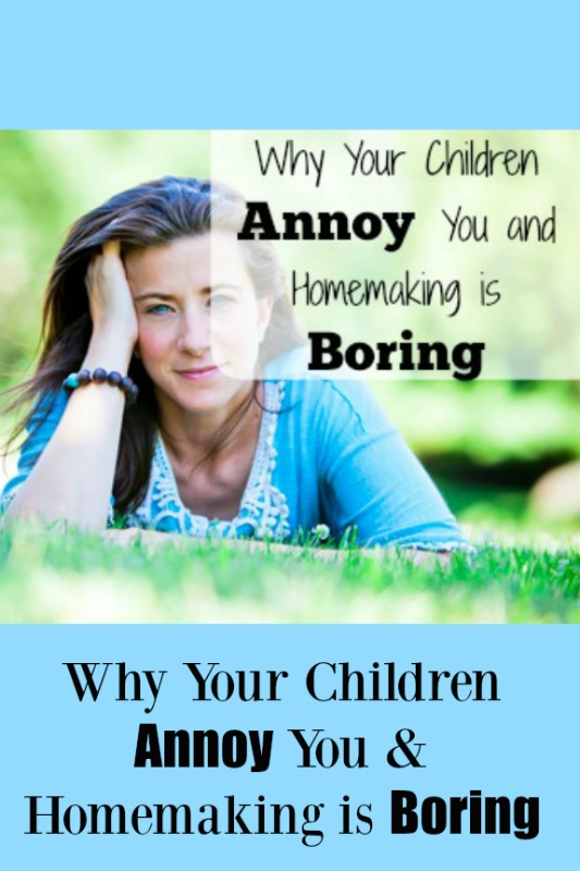 Why Your Children Annoy You and Homemaking is Boring