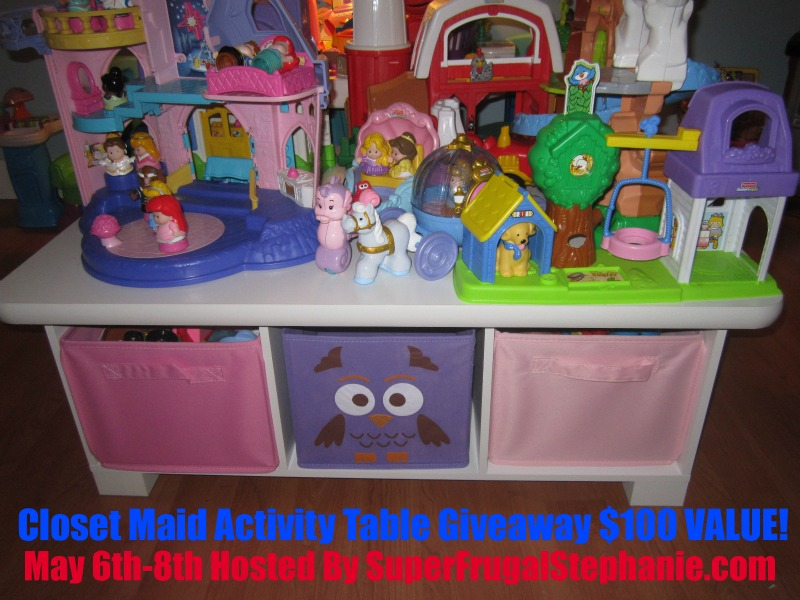Win this Activity Table from Closet Maid- ends 5/8 u2013 US only & Win this Activity Table from Closet Maid- ends 5/8 - US only -